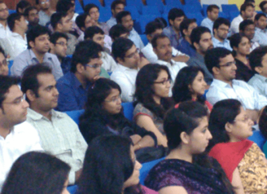 Mr. Sivarama Krishnan – Executive Director – PwC addressing students at SCIT
