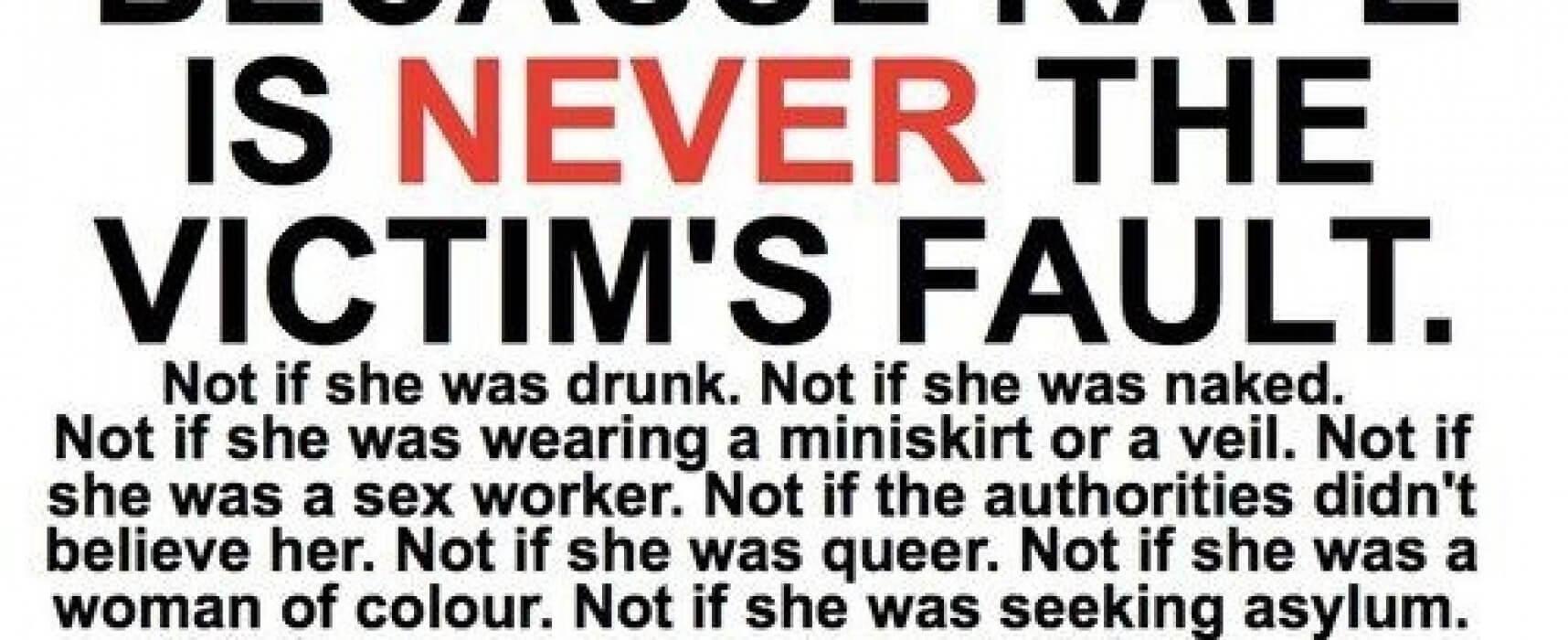 """Rape:Was it """"her"""" fault?"""