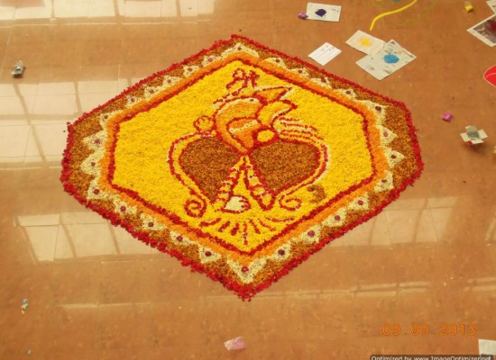 Rangoli Competition at SIC-SCIT on Ganpati day 2013