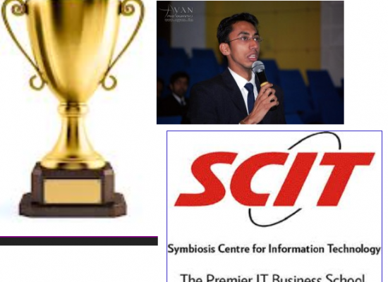 Alumni of SCIT constitutes an award for the Students of SCIT