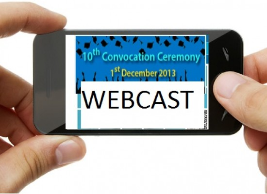 LIVE WEBCAST of Convocation 2013