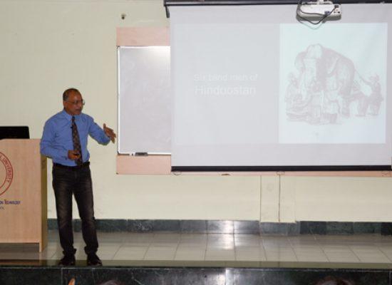 Col. Prabir Sengupta (Vishsita Seva Medal) at SCIT