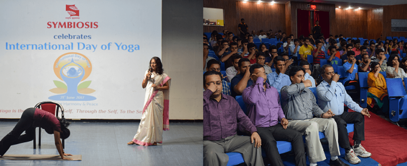 International Yoga Day Celebration at Symbiosis