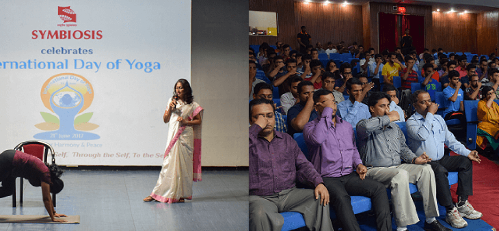 International Yoga Day Celebration at Symbiosis