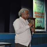 Dr. Sharad Kale the renowned Environmentalist talking to SCIT students