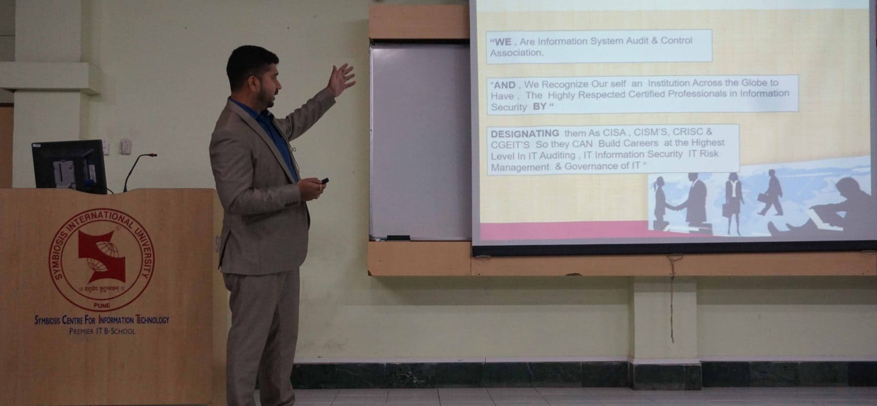 Guest Lecture – ISACA  : Importance of certifications for IT Security