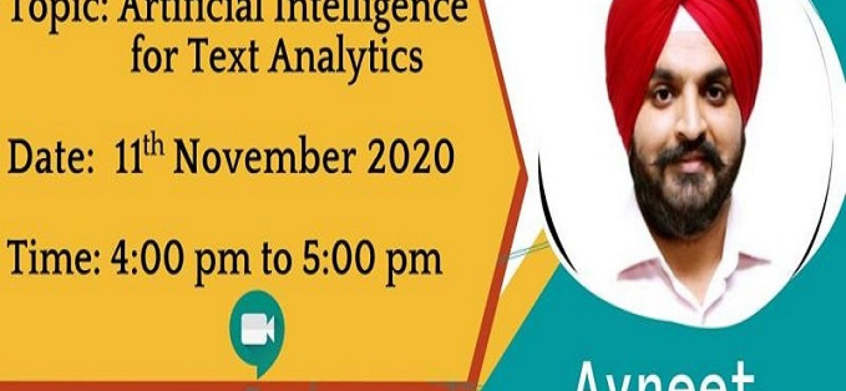 Artificial Intelligence for Text Analytics